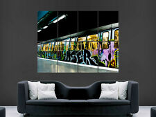 GRAFFITI SUBWAY TRAIN  ART HUGE LARGE WALL  POSTER PICTURE PRINT