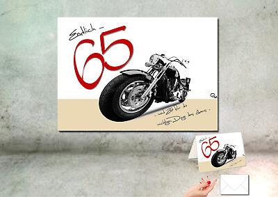 "DigitalOase /""65/"" Wandbild Poster 30 x 40 cm 65 Geburtstag passende Karte A6"