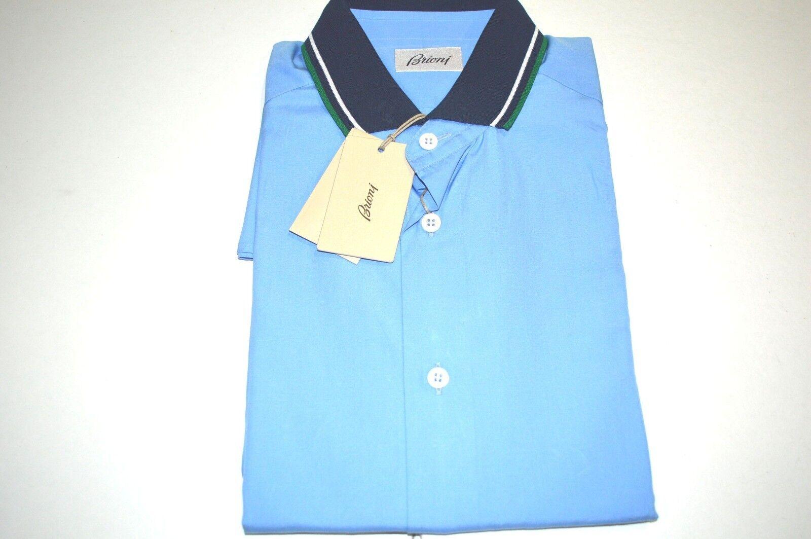 NEW  BRIONI Polo  Short Sleeve Cotton Größe L Us Eu 52 (SSG13)