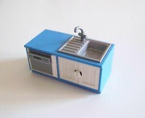 Details zu PLAYMOBIL (R277) MAISON MODERNE - Meuble Bleu Combiné Lave  Vaisselle Evier 5329