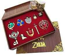 The Legend of Zelda Triforce Hylian Shield & Master Sword Keychain/necklace/orna
