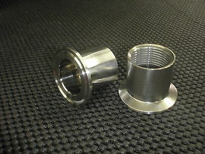 """STAINLESS ADAPTER 1 1/2"""" TRI CLAMP - 1/2"""" NPT FEMALE PIPE CONVERTER #WH150-050F"""