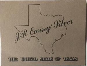 "1981 J.R.EWING / DALLAS ""LIMITED EDITION"" VINTAGE SILVER (1-OUNCE) COIN **RARE**"