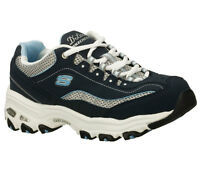 11617 Navy Dlites Skechers Shoes Women Sport Soft Comfort Athletic Train Sneaker