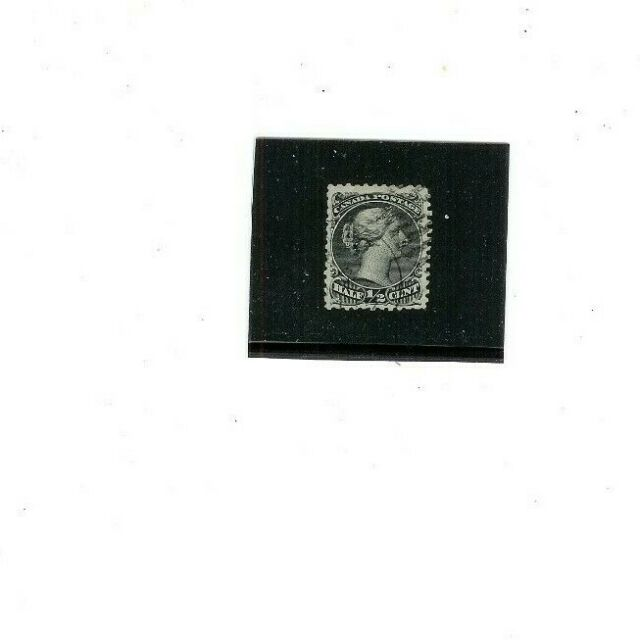 CANADA  Stamp  21  USED  F-VF   1/2  cents  Queen Victoria  1868-76 issue