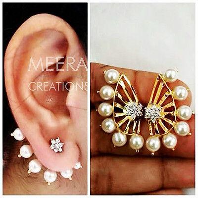 Beautiful Stylish Designer Fashion Latest Pearl Stud Earrings For Women Girls Lo