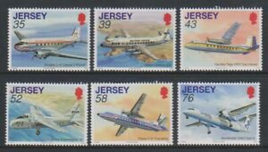 Jersey-2009-Jersey-Aviation-Histoire-10th-Series-Ensemble-MNH-Sg-1410-15