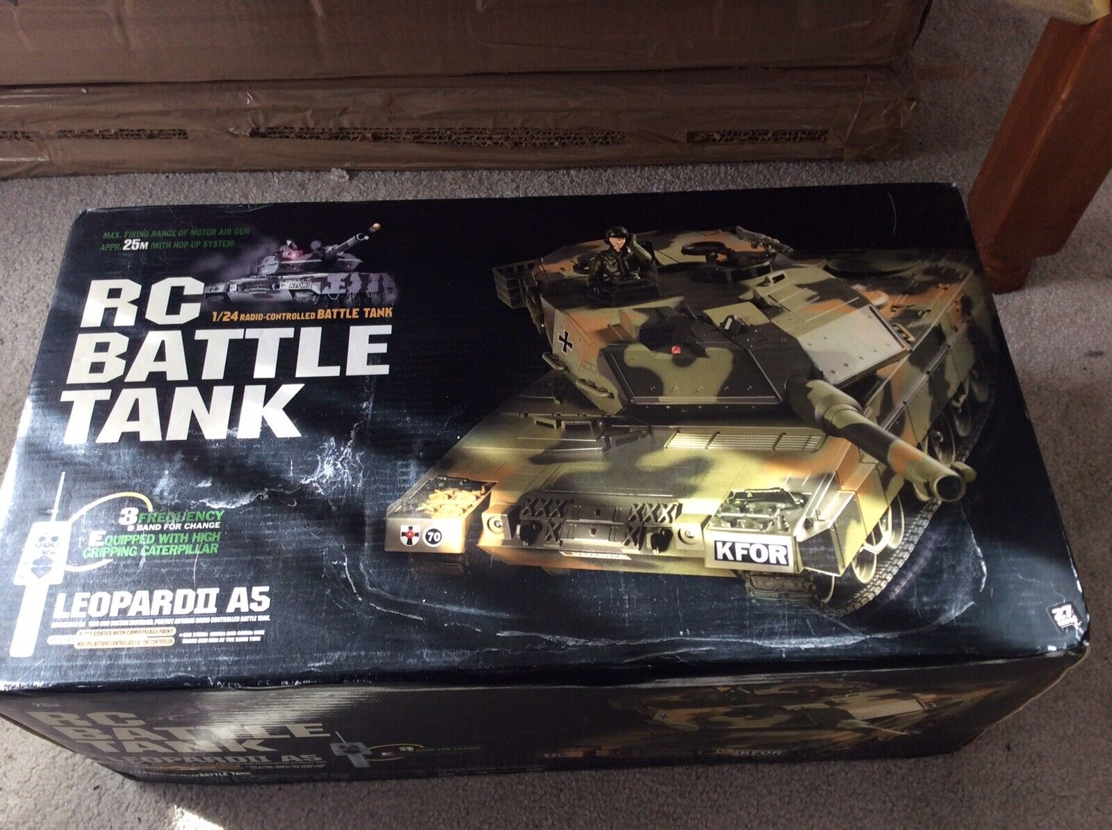 R C Battle Battle Battle Tank 2.4g German Leopard II A5 1 24 Radio Controlled Tank TAMIYA 29d