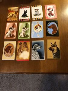 12-Vintage-Swap-Playing-Trading-Cards-Dogs-Dog-Card