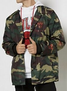 f1f6aef0f7ad3 NBA X Rue 21 Men's Chicago Bulls Camo Coaches Jacket Size Medium $65 ...