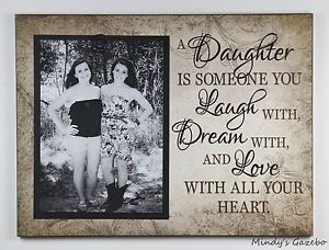 Wood Clip Frame Mother Daughter 5 X 7 Picture Frame Photo Sign Home