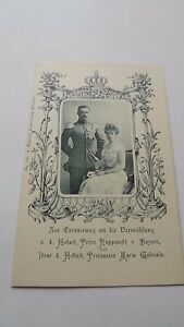 1900 Rupprecht Crown Prince of Bayern amp Wife Marie Gabrie vintage Mint  Postcard - Belfast, Down, United Kingdom - 1900 Rupprecht Crown Prince of Bayern amp Wife Marie Gabrie vintage Mint  Postcard - Belfast, Down, United Kingdom