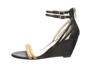 c871d7eb1ab Details about Women's Shoes Vince Camuto WYNTER Wedge Sandals Heels Leather  BLACK Multi