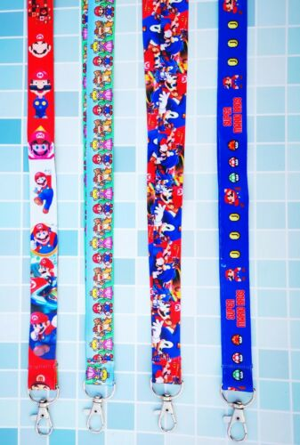 lot cartoon Super Mario mix Strap Lanyard ID Badge Holders Mobile Neck Key chain