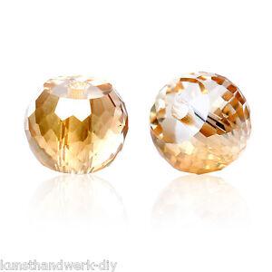 30 Glas Perlen Rund Mehrfarbig Transparent Facettiert Beads zum Basteln 8mm JO