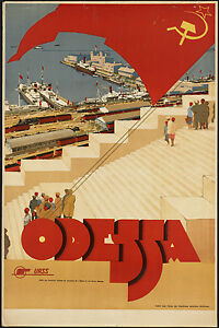 ODESSA-Travel-METAL-TIN-SIGN-POSTER-WALL-PLAQUE-RETRO