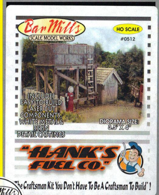Bar Mills  HANK'S FUEL COMPANY KIT #0512 (HO-Scale) NIB *FREE SHIPPING*