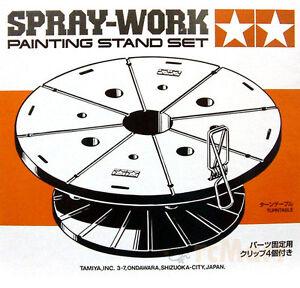 New-Tamiya-74522-SPRAY-WORK-PAINTING-STAND-SET-Japan