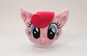 Hasbro 2014 My Little Pony Plush Coin Circle Face Zipper Pouch - Pinkie Pie MLP