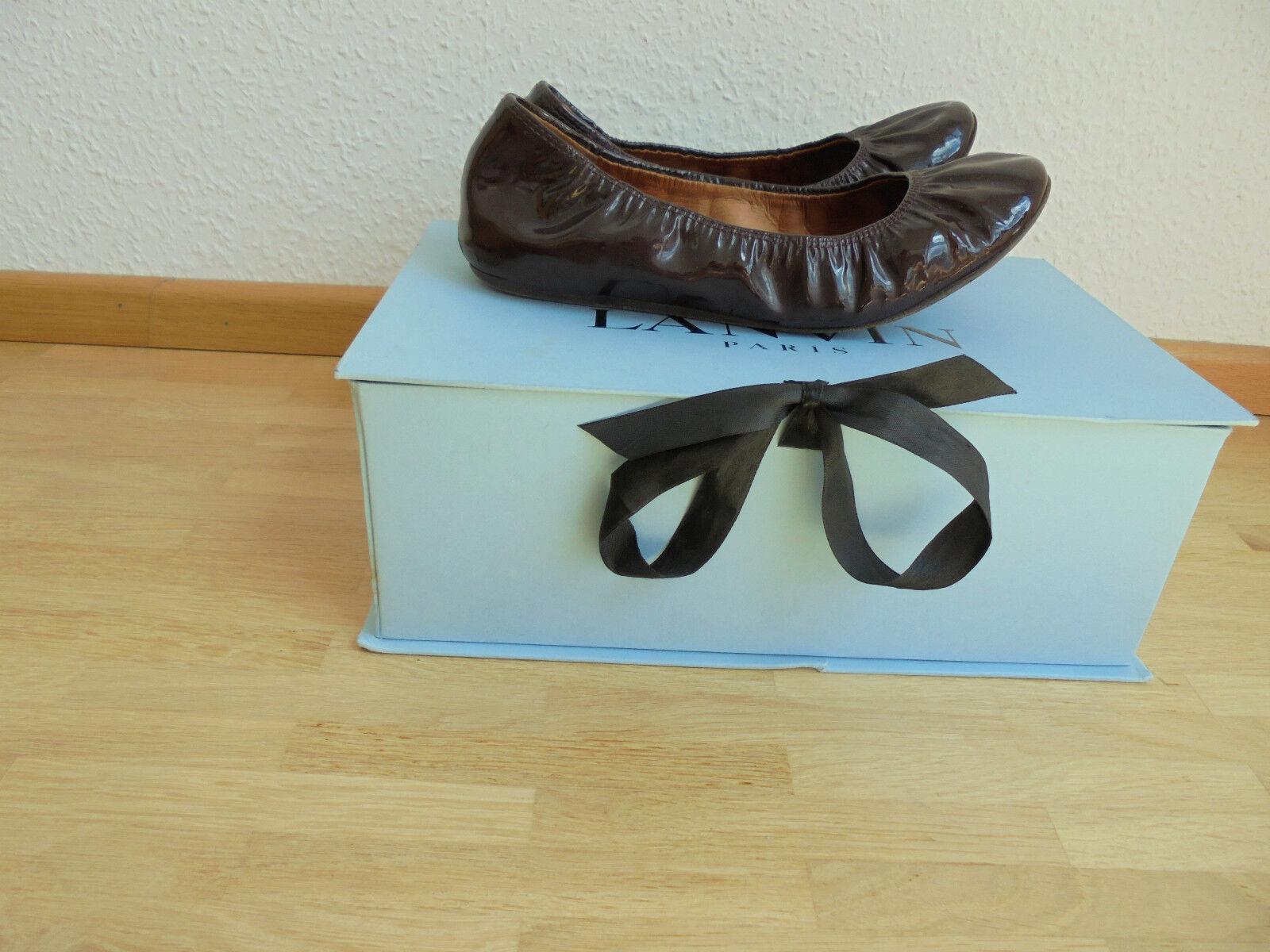 Lanvin Paris Lackleder Ballerinas NP  + OVP Karton Schuhe Pumps 36 36,5 37