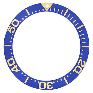 BEZEL-INSERT-FOR-INVICTA-8928-PRO-DIVER-AUTO-WATCH-BLUE-GOLD-FONTS-TOP-QUALITY