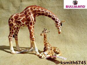 Bullyland Girafe & Baby Bundle Solide Jouet Wild Zoo Animale Africaine Veau * Nouveau * ????-afficher Le Titre D'origine Une Performance SupéRieure