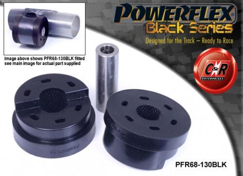 2007-2014 Powerflex Negro Trasero HAZ De Montaje Bush PFR68-130BLK Smart Fortwo 451