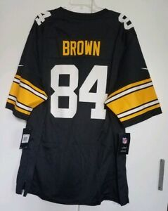 Details about Men's Pittsburgh Steelers Antonio Brown Nike Black Alternate Game Jersey Size 2X