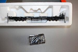 Roco-47758-4-Achser-Rungenflachwagen-mit-Kalksteinladung-Spur-H0-OVP