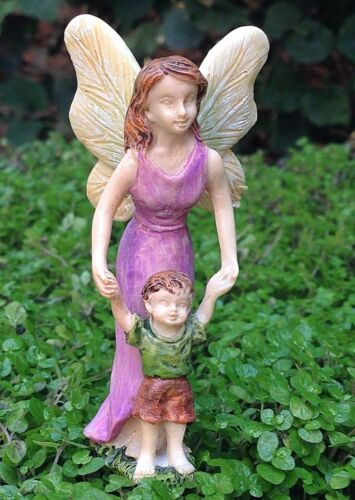 Miniature Dollhouse FAIRY GARDEN ~ First Steps Mother /& Son Figurine Pick ~ NEW