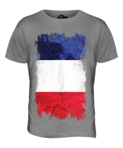 FRANCE GRUNGE FLAG MENS T-SHIRT TEE TOP FRENCH SHIRT FOOTBALL JERSEY GIFT