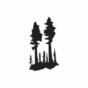 Vinyl Decal Sticker ebn530 Pine Trees Art Multiple Color /& Sizes