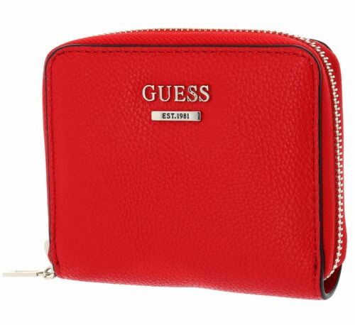 Guess MICHY Rec Small Zip Around Portefeuille Red Multi Rouge Nouveau