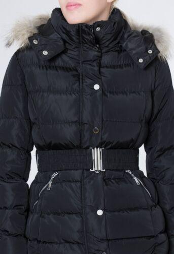 CASPAR JCK002 Damen warme Winter Jacke Steppjacke mit abnehmbare Pelz Kapuze