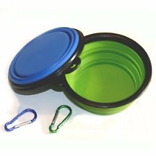 Comsun 2pack Collapsible Dog Bowl Food Grade Silicone BPA Foldable