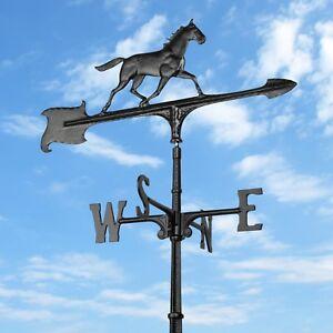 30-034-Horse-Accent-Weathervane-Black