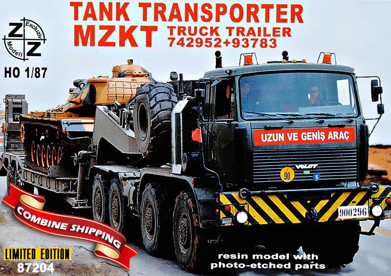 Zz modell 87204 tank transporter volat mzkt-742952 + 93783 harz - 1   87 (ho)