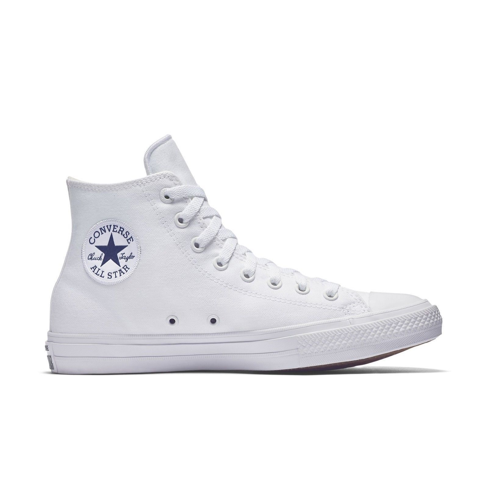 New Converse femmes Mens Chuck Taylor All Star II HI Trainers blanc 150148C UK 3
