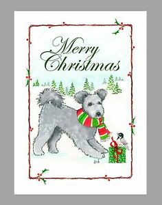 Dog Christmas Cards.Details About Pumi Dog Christmas Cards Box Of 16 Cards 16 Envelopes