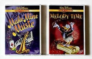 Disney-039-s-Make-Mine-Music-amp-Melody-Time-2-DVD-Movie-Set-16-Famous-Cartoon-Shorts