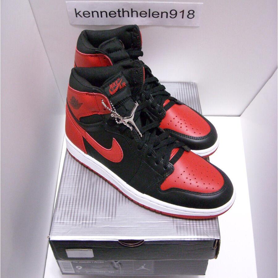 finest selection 37dd7 7b107 Nueva 2018 Jordan Nike Air Jordan 2018 1 retro Bred Negro Varsity Rojo  Talla 9 nuevos zapatos para hombres y mujeres, el limitado tiempo de  descuento 4922f6
