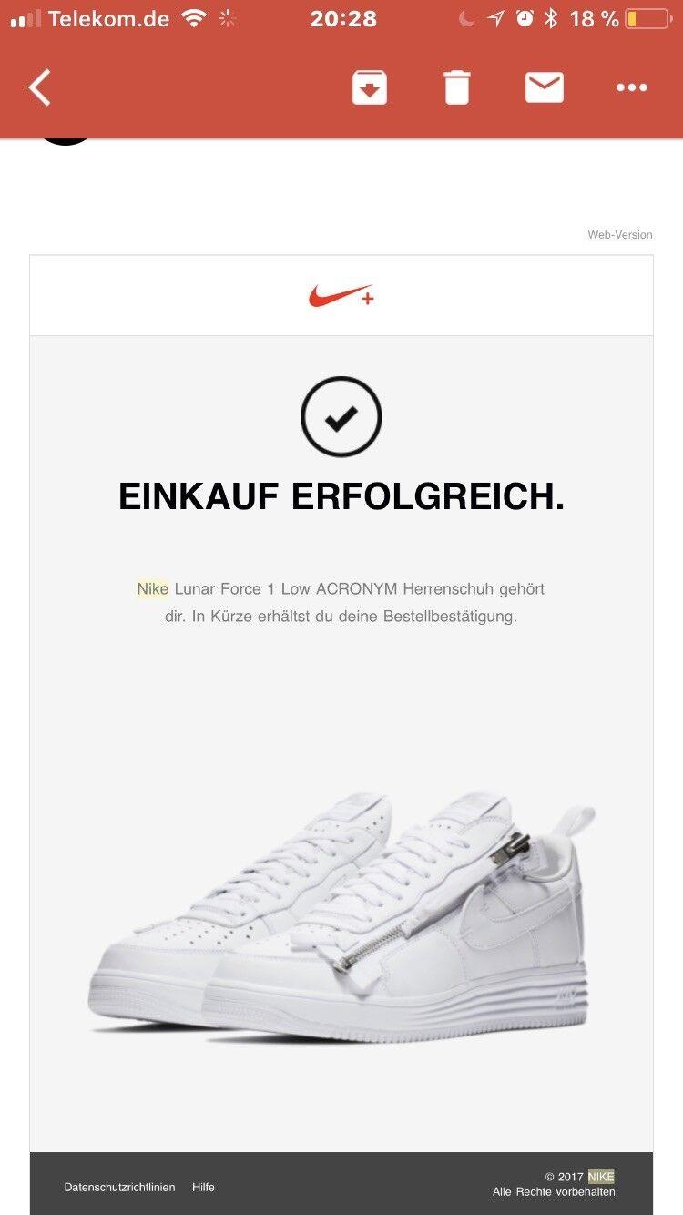 Nike Air Force / 1 Niedrig x Acronym / Force EU 44,5 US 10.5 / DEADSTOCK acc371
