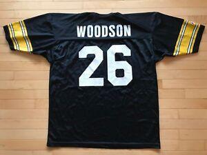 new arrival 55ba9 d7266 Details about Men's VTG Rod Woodson #26 Pittsburgh Steelers Jersey Champion  Sz 52 NFL XXL