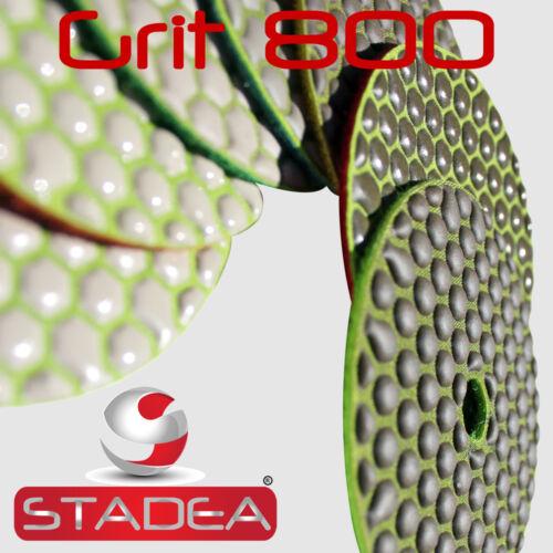 Diamond Polishing Pads 4 inch Dry 7 Piece Set/& Backer Pad Granite Concrete Stone