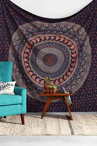 Hippie-Tapisserie-Indienne-Mandala-Jete-De-Lit-Tenture-Murale-Boheme-Couvre-lit