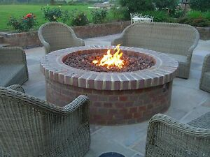 Brightstar Mains Natural Gas Fire Pit Burner Only Round 18kw Patio