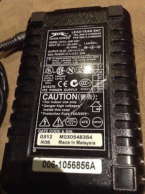 24V 2.3A Symbol Lead Year Tiger Power ADP-5501 Power Supply w// Cord