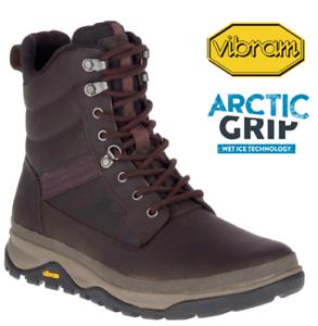"Vibram Arctic-Grip Walking Boot Merrell Mens Tremblant 8/"" Polar Waterproof Ice"