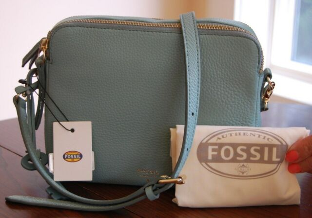 Fossil Women S Sydney Crossbody Leather Bag Seaglass Zb5951116