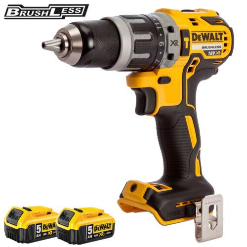 Dewalt DCD796N 18 V Brushless 2 vitesse Combi perceuse avec 2 x 5.0Ah DCB184 Piles